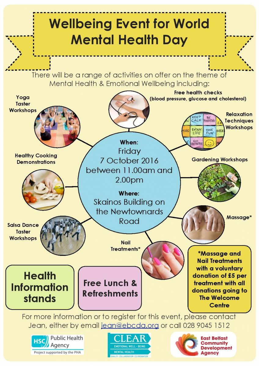 wellbeing event for world mental health day east belfast