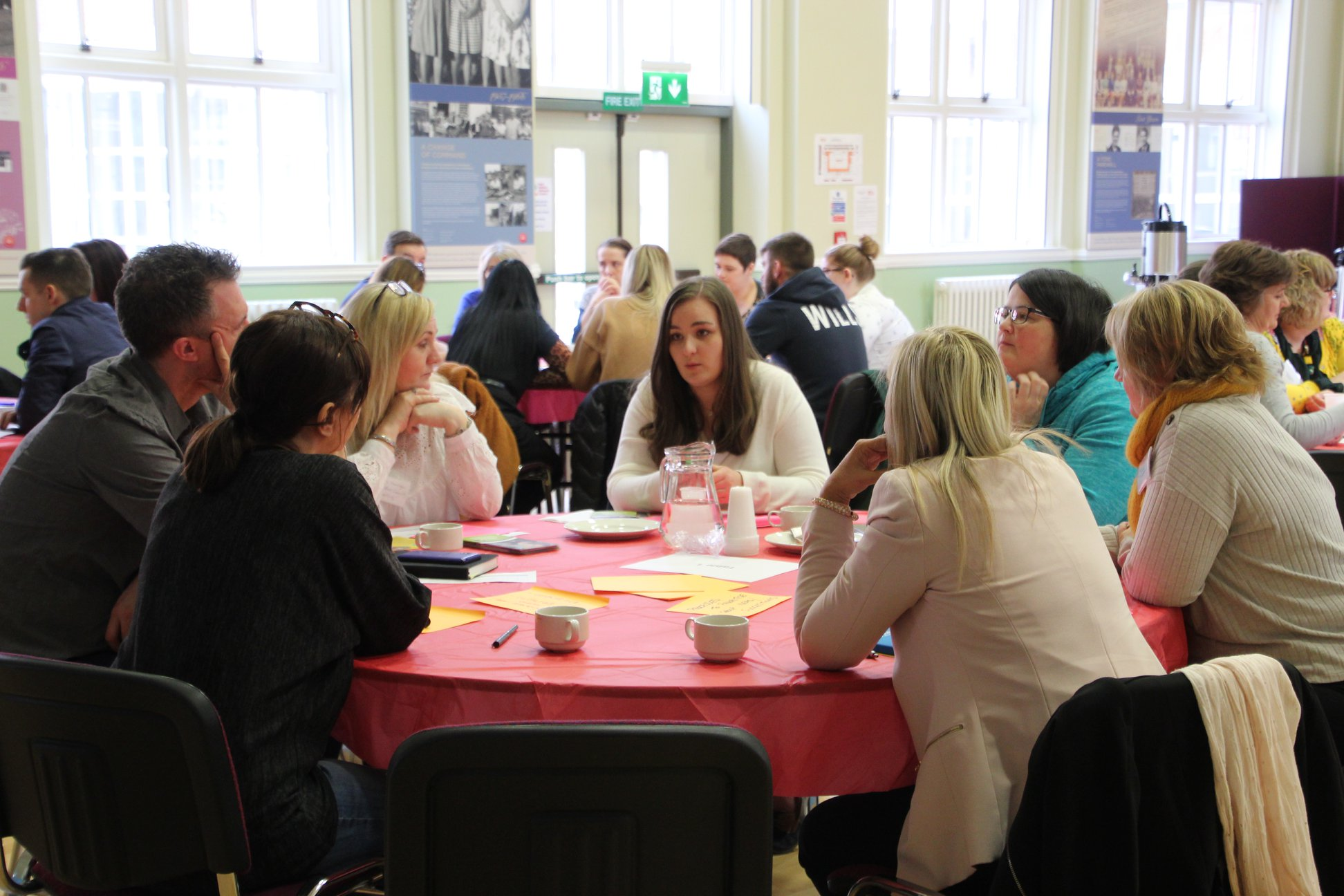 Discussions at the third East Belfast Networking event of the East Belfast Community Capacity and Leadership Programme
