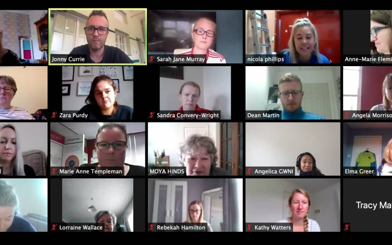 Inner East Transformative Leadership Programme participants on Zoom